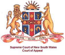 Supreme Court of New South Wales Court of Appeal